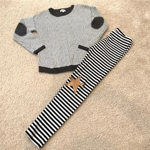 Girl 4T Splendid waffle sweater & Cat Jack legging